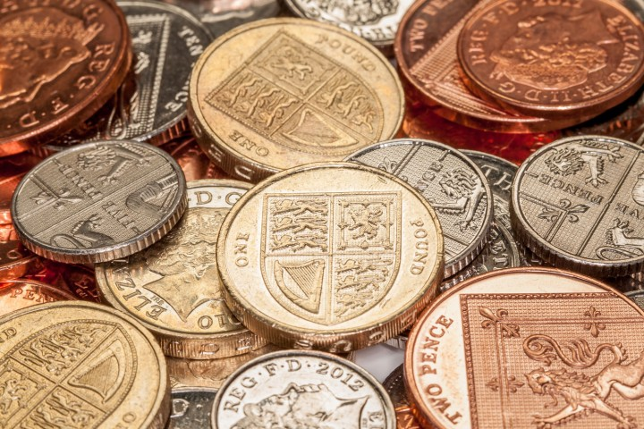 Assorted British coins