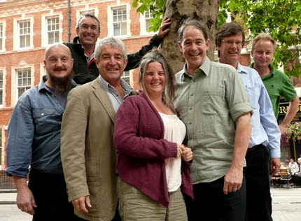 The seven members of the Our Forests ginger group, including Jonathon Porritt, Tony Juniper, Robin Maynard and Hen Anderson.